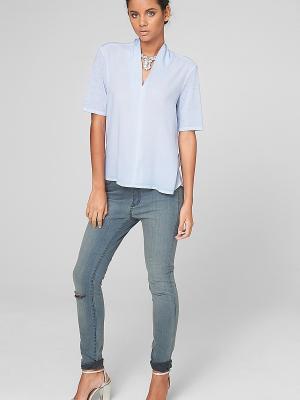 Блузка S.OLIVER. Цвет: светло-голубой