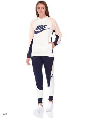 Лонгслив W NSW CRW PK CB Nike. Цвет: белый, оранжевый