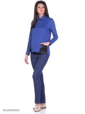 Брюки джинсовые на флисе EUROMAMA. Цвет: синий