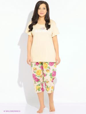 Комплект одежды Vienetta Secret. Цвет: зеленый, персиковый, желтый