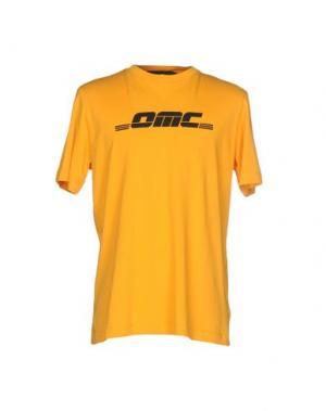 Футболка OMC. Цвет: оранжевый