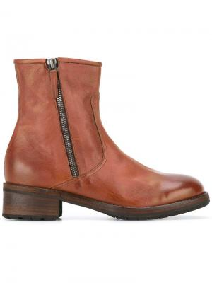 Ботинки на молнии Laboratorigarbo. Цвет: коричневый