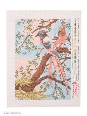 Рисунок на канве Райские птицы Матренин Посад. Цвет: белый, голубой, коричневый