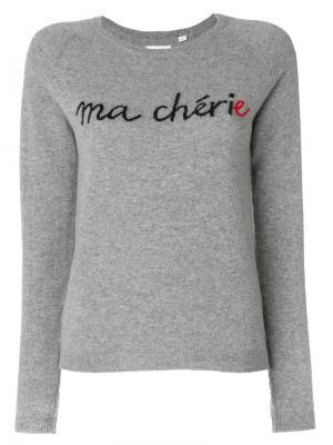 Кашемировый свитер с надписью Chinti & Parker. Цвет: серый