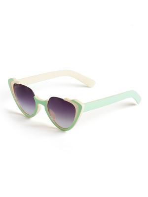 Солнцезащитные очки Selena. Цвет: светло-зеленый, серый, бежевый
