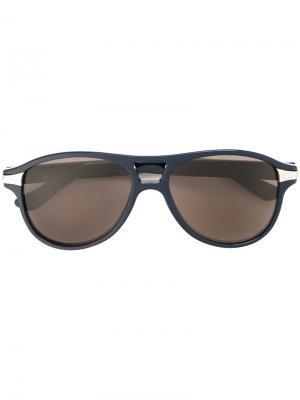 Солнцезащитные очки Santos Cartier. Цвет: чёрный