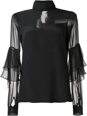 Блузка с прозрачными панелями Prabal Gurung. Цвет: чёрный