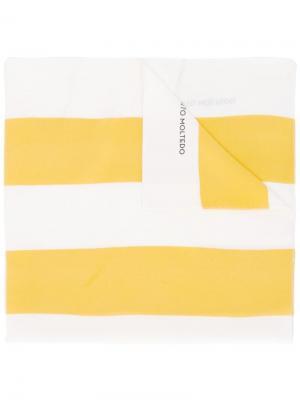 Шарф в полоску Corto Moltedo. Цвет: жёлтый и оранжевый