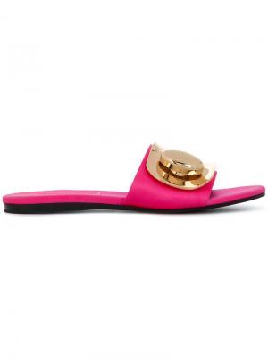 Слиперы с пряжками Stella Luna. Цвет: розовый и фиолетовый