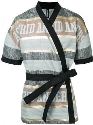 Куртка в стиле кимоно Astrid Andersen. Цвет: коричневый