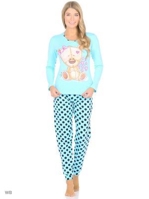 Пижама женская NICOLETTA. Цвет: голубой
