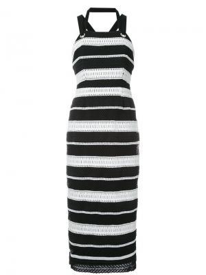Платье миди Testa Rebecca Vallance. Цвет: чёрный