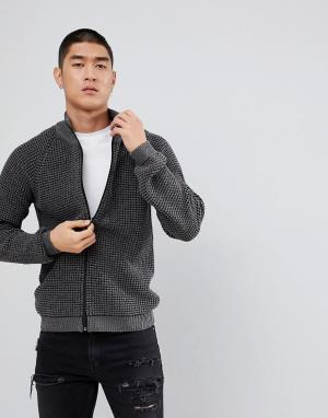 ASOS Серая фактурная спортивная куртка. Цвет: серый