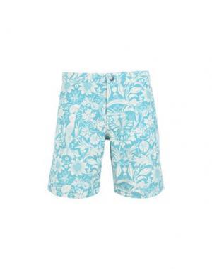 Пляжные брюки и шорты RIZ. Цвет: бирюзовый