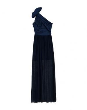 Длинное платье PINKO. Цвет: темно-синий