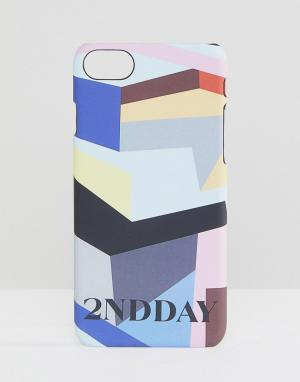 2nd Day Чехол для iPhone 7 с принтом. Цвет: мульти