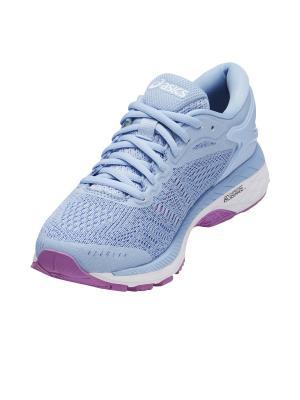 Спортивная обувь GEL-KAYANO 24 GS ASICS. Цвет: голубой, белый, сиреневый