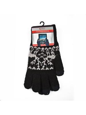 Перчатки LP для сенсорных экранов Олени Liberty Project. Цвет: черный
