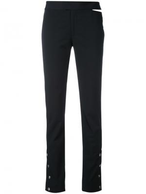 Button cuff trousers Nomia. Цвет: чёрный