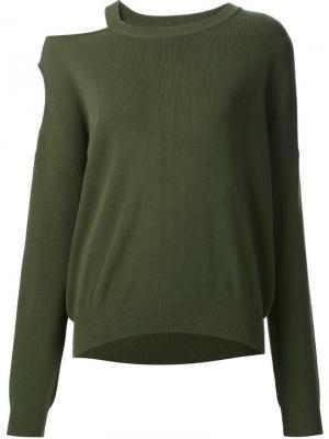 Cut-out shoulder sweatshirt Nomia. Цвет: зелёный