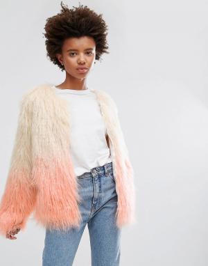 Unreal Fur Куртка из искусственного меха Dream. Цвет: розовый