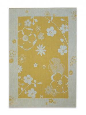 Полотенце Екатерина Белорусский Лен. Цвет: желтый, серый