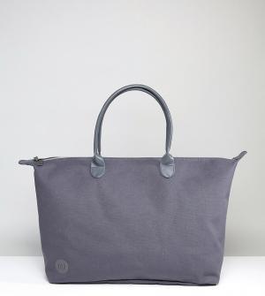 Mi-Pac Темно-серая парусиновая дорожная сумка. Цвет: серый
