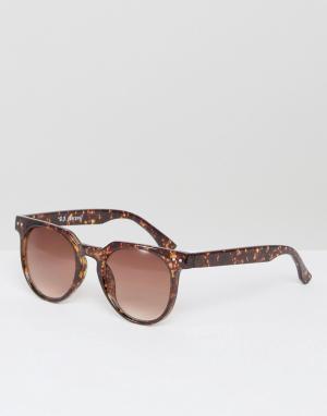 AJ Morgan Солнцезащитные очки в черепаховой оправе Actualize. Цвет: коричневый