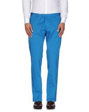 Повседневные брюки ROBERTO PEPE. Цвет: пастельно-синий
