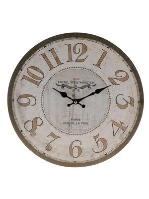 Часы настенные Mitya Veselkov. Цвет: бежевый, белый