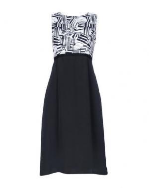 Платье длиной 3/4 FABRIZIO LENZI. Цвет: черный