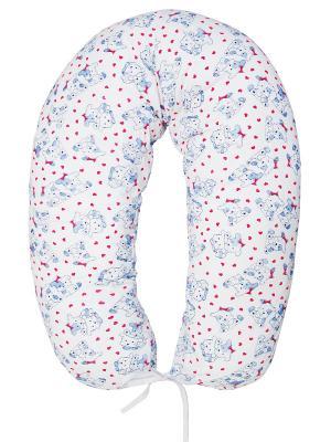 Подушка для беременных и кормящих трикотаж ФЭСТ. Цвет: белый,красный