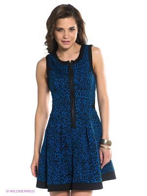 Платье BSB. Цвет: синий, черный