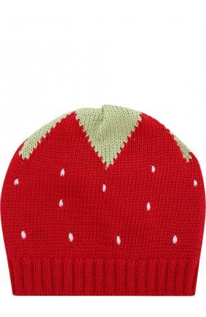 Хлопковая шапка с принтом Catya. Цвет: красный