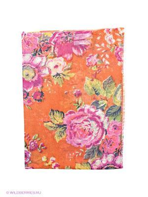 Палантин MALA ALISHA. Цвет: оранжевый, розовый, зеленый