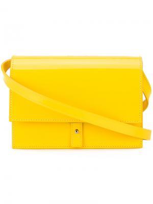 Сумка через плечо с откидным клапаном Pb 0110. Цвет: жёлтый и оранжевый