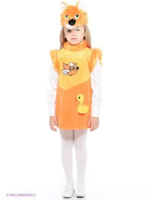 Карнавальный костюм Лисичка Линда Батик. Цвет: оранжевый