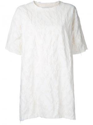 Мини-платье клоке Marquesalmeida Marques'almeida. Цвет: белый