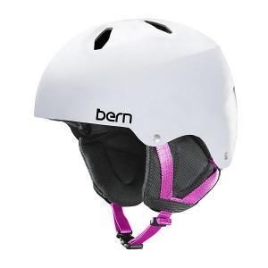 Шлем для сноуборда детский  Team Diabla Satin White/Black Cordova Earflaps Bern. Цвет: белый,черный
