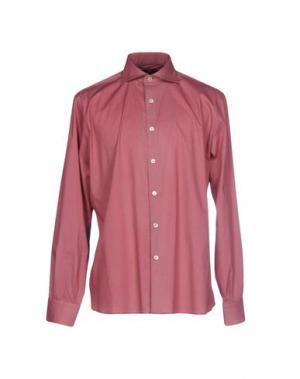 Pубашка DOMENICO TAGLIENTE. Цвет: красно-коричневый
