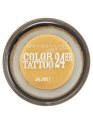 Тени для век Color Tattoo 24 часа, оттенок 75, Золото карата, 3,5 мл Maybelline New York. Цвет: золотистый