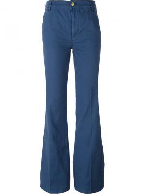 Расклешенные брюки Tory Burch. Цвет: синий
