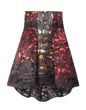 Шелковая юбка Peter Pilotto. Цвет: бордовый, кремовый, красный, синий