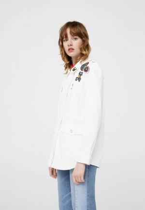 Куртка Mango. Цвет: белый