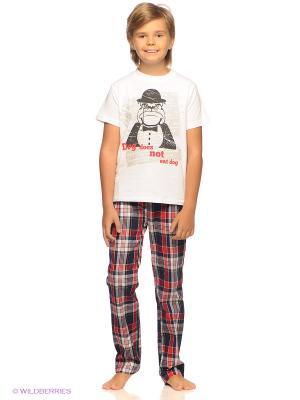 Пижама S`Cool. Цвет: белый, темно-синий, красный