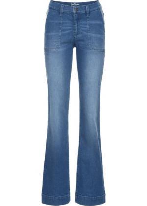 Широкие стретчевые джинсы, cредний рост (N) (голубой) bonprix. Цвет: голубой