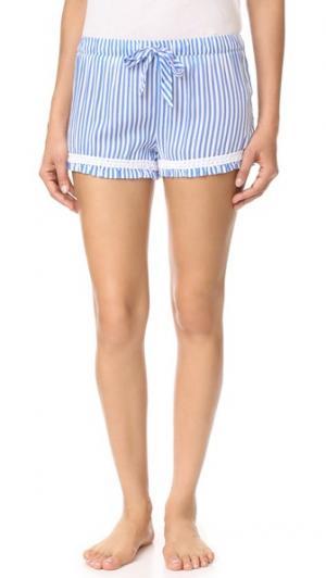 Летние пижамные шорты в полоску PJ Salvage. Цвет: деним
