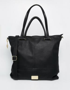Marc B Oversize-сумка на плечо с длинным ремешком. Цвет: черный