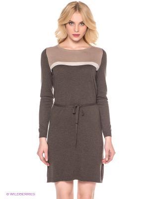 Платье LERROS. Цвет: коричневый
