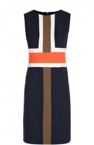 Платье футляр без рукавов с геометрическим принтом Diane Von Furstenberg. Цвет: темно-синий